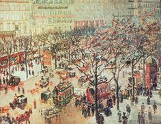 Camille Pissarro - Boulevard des Italiens, Morning Sun