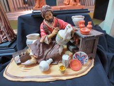 El Arte en el Belén: Simplemente espectacular JUAN MIGUEL DE LA ROSA Christmas Village Display, Christmas Nativity Scene, Christmas Decorations, Fontanini Nativity, Miniature Rooms, School Art Projects, Food Design, Art For Kids, Xmas