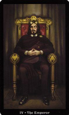 Steampunk Tarot – The Hanged Man Steampunk, The Emperor Tarot, Tarot Cards Major Arcana, Le Tarot, The Hanged Man, Tarot Card Decks, Tarot Readers, Oracle Cards, Illustrations