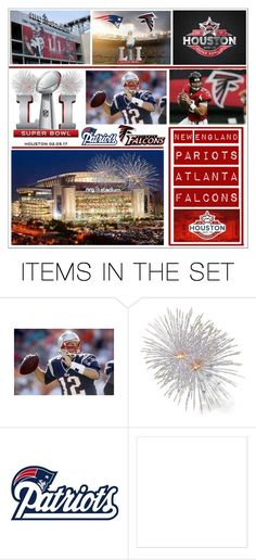 """""""Super Bowl 51 * 2017  New England Patriots and Atlanta Falcons"""" by calamity-jane-always ❤ liked on Polyvore featuring art, artset, artexpression, superbowl and superbowl51"""