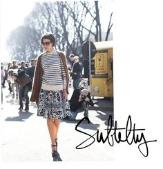 Love the stripes and prints-