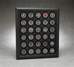 Executive 30 Puck Display with Formed Back Acrylic Display Case B-4015 by N Case It.  Buy it @ ReadyGolf.com
