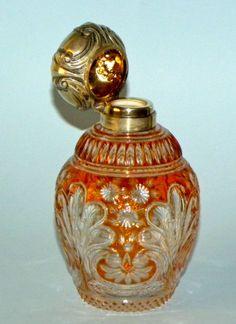 ANTIQUE STEVENS & WILLIAMS STOURBRIDGE INTAGLIO CUT GLASS PERFUME SCENT BOTTLE | eBay
