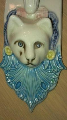 Cat Wall Pocket Tacoma Art Pottery Tap | eBay