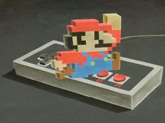 3D Mario chalk drawing time lapse video will make your jaw drop with nostalgia and artistic envy