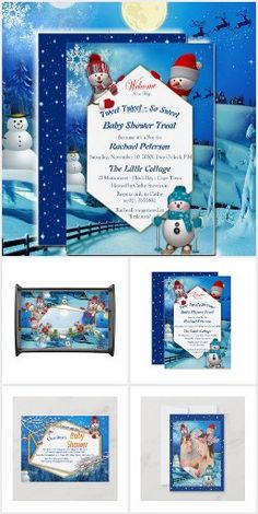 Baby Shower Winter, Baby Winter, Christmas Baby, Christmas Gifts, Party Invitations Kids, Cute Snowman, Personalized Baby, Baby Bibs, Winter Holidays