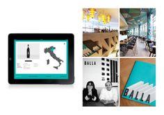 Balla Restaurant identity and environmental graphics