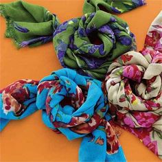 FLORAL SCARVES FROM INDIA on sale @worldmarket