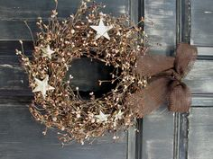 Pantry+Door+Wreath++Mixed+Brown+Berry+&+Ivory+by+Designawreath,+$33.95