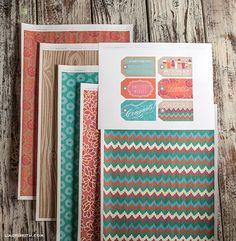 Printable gift wrap and gift tags