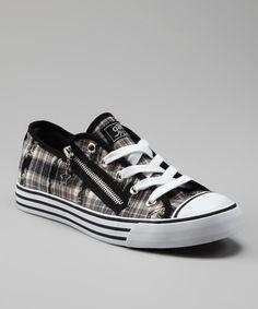 Loving this Black & White Plaid Lenwood Sneaker on #zulily! #zulilyfinds