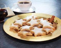 Recette - Etoiles de Noël à la cannelle en vidéo Chocolate Chip Cookies, Christmas Cookies, Easy Christmas Cookie Recipes, Gluten Free Cookies, Unique Recipes, Cookies Et Biscuits, Eating Plans, Diabetic Recipes, A Food