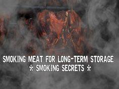 Smoking meat for long-term storage – Smoking secrets