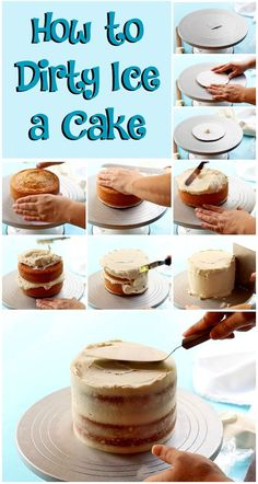 Learn How to Dirty Ice a Cake | The Bearfoot Baker