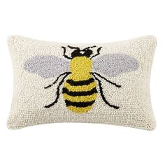 These handmade hook pillows are made to last years with vivid details and color. These functional and yet versatile Beeks Bee Hook Wool Throw Pillow are meticulously crafted and ready to display. Made of New Zealand wool yarn and backed in luxurious cotton velveteen to fill your home with idyllic holiday scenery as well as everyday occasions.