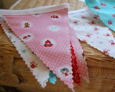 Bunting by happy little cottage