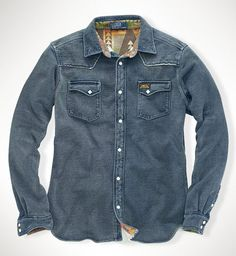Ralph Lauren Indigo Fleece Western Shirt