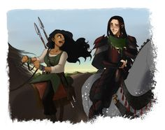 Haleth gave a scarf to Caranthir; okay, why do so many people draw Haleth as  dark-skinned with black hair? The Haladin were blonde!