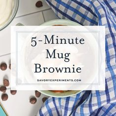 Do you ever have just a little sweet tooth? Not really in the mood to make a whole batch of brownies, but want something quick? Try my fugdy, gooey MUG BROWNIE topped with whipped cream and caramel. So easy and SO. DARN. GOOD. #mugbrownie #brownieinamug #singleservebrownie www.savoryexperiments.com