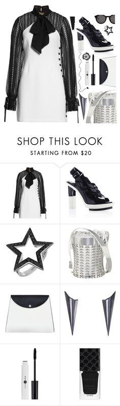 """""""Just one Happy ending"""" by sunnydays4everkh ❤ liked on Polyvore featuring self-portrait, Spallanzani, Paco Rabanne, C.Nicol, Alice Barnes, Gucci and Thierry Lasry"""