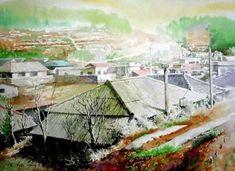 여백을 즐기는 수채화의 대가 [신종식] 화가 : 네이버 블로그 Watercolor Landscape, Watercolour, Vietnam, Art Drawings, Beautiful Pictures, Urban, Illustration, Image, Paintings