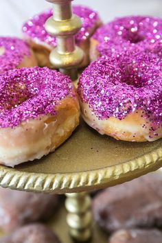 Glazed Edible Glitter Donut Recipe
