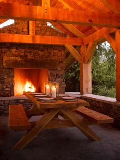outdoor room & fireplace