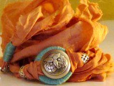 Sari silk wrap bracelet by Mary Mercedes