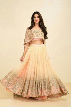 The Stylish And Elegant Lehenga Choli In Pink Colour Looks Stunning And Gorgeous With Trendy And Fashionable Embroidery . The Georgette Fabric Party Wear Lehenga Choli Looks Extremely Attractive And C. Indian Gowns, Indian Attire, Indian Wear, Indian Style, Indian Wedding Outfits, Indian Outfits, Indian Clothes, Indian Designer Outfits, Designer Dresses