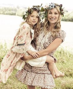 Kate Moss & daughter Lila Grace for Vogue   #LilLemons #inspo