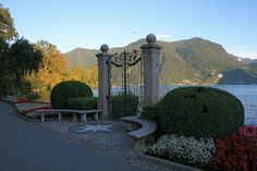 Parco Ciani, Lugano, Switzerland. Most beautiful gate!