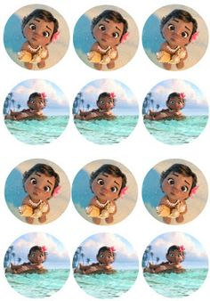 Musings of an Average Mom: Free Printable Moana Cupcake Toppers