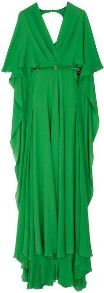 Elie Saab Green Kaftan Dress