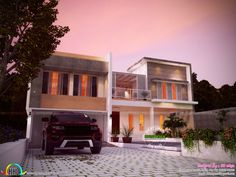 Blueprint plan with house architecture