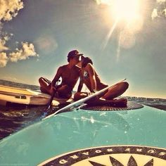 Making out on paddle boards check! Too bad there's not a cute pic to prove it ;)