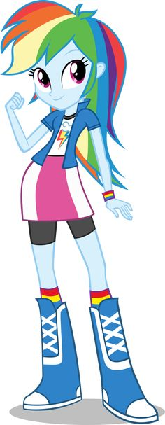 Equestria girls costume rainbow dash - Claire's Choise