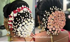 Top 10 South Indian Bridal Hairstyles For Weddings, Engagement etc. - Nischitha - Top 10 South Indian Bridal Hairstyles For Weddings, Engagement etc. Top 10 South Indian Bridal Hairstyles For Weddings, Engagement etc. Hairstyles For Gowns, Bollywood Hairstyles, Clip Hairstyles, Elegant Hairstyles, Party Hairstyles, Wedding Hairstyles, South Indian Hairstyle, Indian Bridal Hairstyles, Bun Styles
