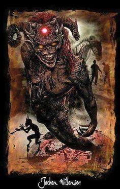 Demon Horror Art, Horror Movies, Demon Artwork, Vampires, Dark Side, Devil, Creepy, Weird, Creatures