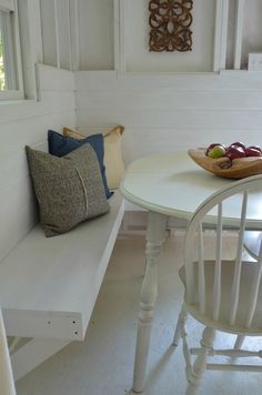 DIY Bench Seating - Shed Makeover One Room Challenge