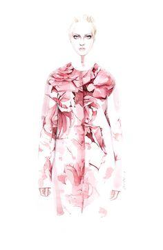 Illustration.Files: Giambattista Valli F/W 2014 Fashion Illustration by António Soares