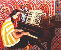 """Henri Matisse (1869-1954) """" Young Woman at the Piano."""""""