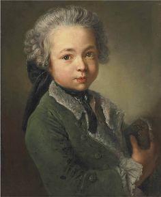 Antoine Pesne (1683-1757) — Portrait of the artist's grandson, c. 1750.
