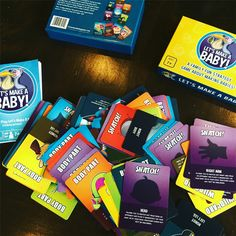 Let's Make A Baby!  A strategy card game where the winner is the first person to make a baby - a head, arms, body, legs and diaper. (What did you think we meant by making a baby?)
