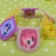 These My Little Pony Rings are great for cupcakes, cakes, and favors! Each pack includes 12 cupcake rings and 3 different designs. The rings measure 1 1/2 inche