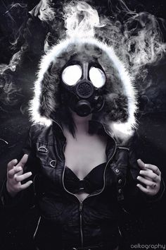 Are your roommates angry about too much weed smoke? Make everyone happy with… Rpg City, Gas Mask Girl, Post Apocalyptic Fashion, Creation Art, Psy Art, Puff And Pass, Art Anime, Stoner Girl, Arte Horror