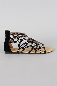 Rhinestone Cut Out Open Toe Flat Sandal Girls Sandals, Flat Sandals, Peep Toes, Open Toe Flats, Cute Flats, Prom Shoes, Formal Shoes, Me Too Shoes, Trendy Outfits