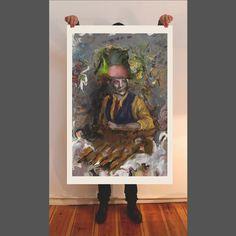 The painter, fine art print, painting, giclee, portrait, wallart, artwork, oil painting, figurative art, contemporary art, Berlin art, brush