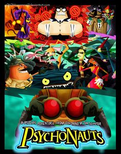 Awesome Psychonauts collage.