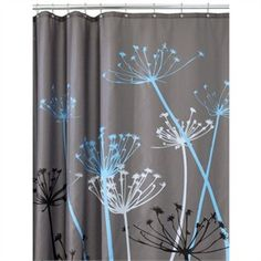 Modern Shower Curtain - Blue and Gray Shower Curtains... Amazon for $20