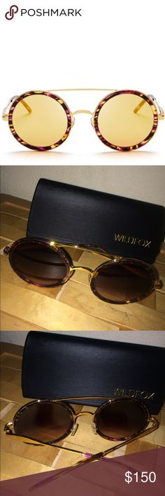 """WILDFOX """"WINONA"""" ROUND SUNGLASSES IN MONTAGE 🌼 Adorable Wildfox Winona Round sunglasses! Comes with Wildfox Case. Authentic. 50 mm lens width. Logo at either sides. Tortoise frames with gold tone sides. Wildfox Accessories Sunglasses"""